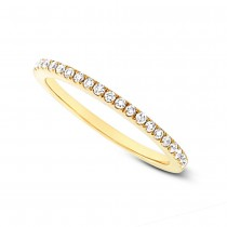 0.20ct 14k Yellow Gold Diamond Lady's Band