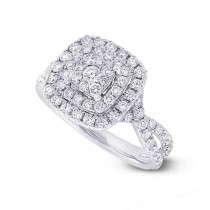 1.37ct 14k White Gold Diamond Lady's Ring