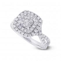 1.37ct 14k White Gold Diamond Lady's Ring