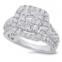 2.32ct 14k White Gold Diamond Lady's Ring