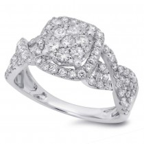 0.99ct 14k White Gold Diamond Lady's Ring