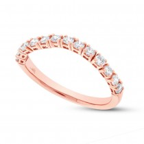 0.47ct 14k Rose Gold Diamond Flexi Band Size 6.5