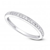 0.19ct 14k White Gold Diamond Lady's Band