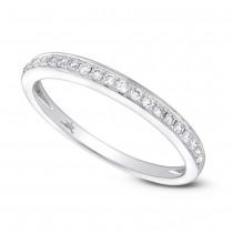 00ffa793164b2 0.15ct 14k White Gold Diamond Lady's Shadow Band