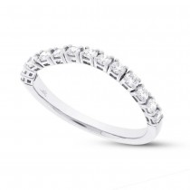 0.47ct 14k White Gold Diamond Flexi Band Size 6.5