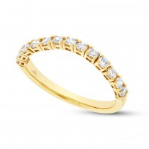 0.47ct 14k Yellow Gold Diamond Flexi Band Size 6.5