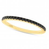 0.20ct 14k Yellow Gold Black Diamond Lady's Band
