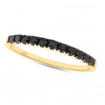 0.27ct 14k Yellow Gold Black Diamond Lady's Band