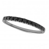 0.27ct 14k Black Rhodium Gold Black Diamond Lady's Band