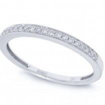 0.11ct 14k White Gold Diamond Lady's Band