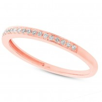 0.11ct 14k Rose Gold Diamond Lady's Band