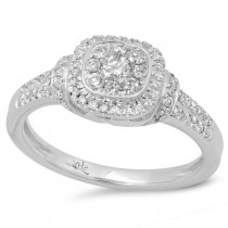 0.43ct 14k White Gold Diamond Lady's Ring