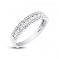 0.65ct 14k White Gold Diamond Lady's Band Size 5.25