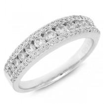 0.65ct 14k White Gold Diamond Lady's Band