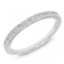 0.30ct 14k White Gold Diamond Lady's Band
