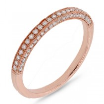0.30ct 14k Rose Gold Diamond Lady's Band