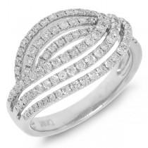 0.73ct 14k White Gold Diamond Lady's Ring