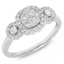 0.49ct 14k White Gold Diamond Lady's Ring