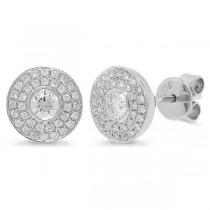 0.41ct 14k White Gold Diamond Stud Earrings