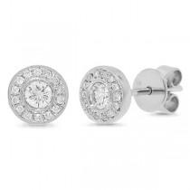 0.26ct 14k White Gold Diamond Stud Earrings