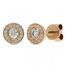 0.26ct 14k Rose Gold Diamond Stud Earrings