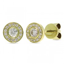 0.26ct 14k Yellow Gold Diamond Stud Earrings