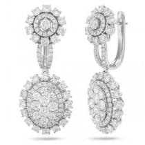 4.20ct 14k White Gold Diamond Earrings