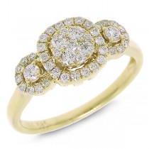 0.49ct 14k Yellow Gold Diamond Lady's Ring