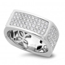 1.62ct 14k White Gold Diamond Men's Ring Size 11