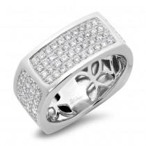 1.62ct 14k White Gold Diamond Men's Ring Size 13