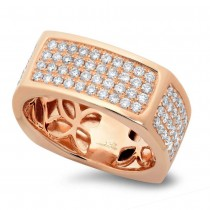 1.62ct 14k Rose Gold Diamond Men's Ring Size 9