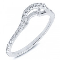 0.26ct 14k White Gold Diamond Curved Lady's Band