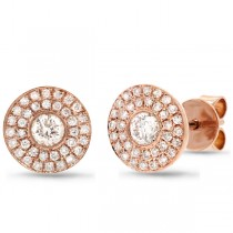0.41ct 18k Rose Gold Diamond Stud Earrings
