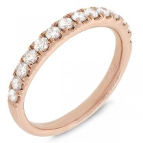0.54ct 14k Rose Gold Diamond Lady's Band