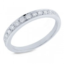 0.36ct 14k White Gold Diamond Lady's Band