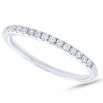 0.21ct 14k White Gold Diamond Lady's Band