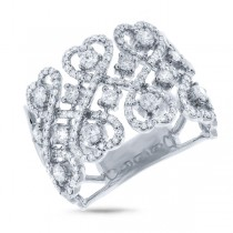 0.98ct 14k White Gold Diamond Heart Ring