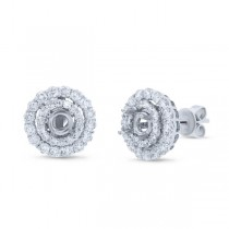 1.30ct 14k White Gold Diamond Semi-mount Earrings