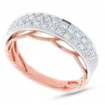 0.68ct 14k Two-tone Rose Gold Diamond Lady's Band