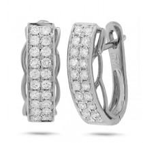 0.72ct 14k White Gold Diamond Earrings