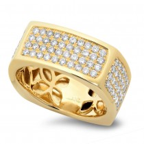 1.62ct 14k Yellow Gold Diamond Men's Ring