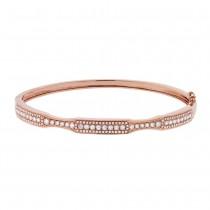 0.93ct 14k Rose Gold Diamond Bangle