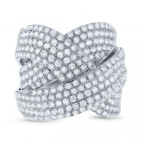 2.33ct 14k White Gold Diamond Bridge Ring