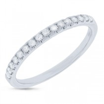 0.24ct 14k White Gold Diamond Lady's Band