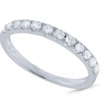 0.42ct 14k White Gold Diamond Lady's Band