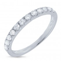 0.42ct 18k White Gold Diamond Lady's Band Size 5.5