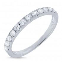 0.42ct 18k White Gold Diamond Lady's Band Size 5