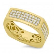 0.94ct 14k Yellow Gold Diamond Men's Ring