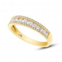 0.65ct 14k Yellow Gold Diamond Lady's Band