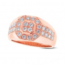 1.18ct 14k Rose Gold Diamond Men's Ring